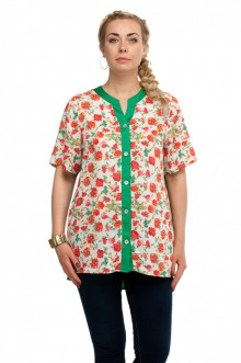 """Блуза """"Олси"""" 1610019/2 ОЛСИ (Красный/зеленый)"""