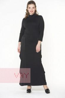 Платье женское 181-3423 Фемина (Черный/черный)