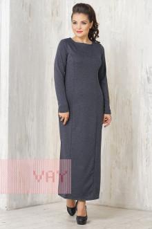 Платье женское 3327 Фемина (Темно-синий меланж)