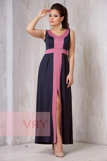 Платье женское 3305 Фемина (Темно-синий/клевер)
