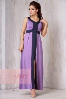 Платье женское 3305 Фемина (Сирень/темно-синий)