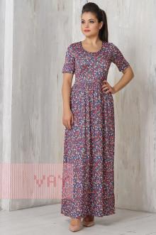 Платье женское 3295 Фемина (Джинс лужайка)