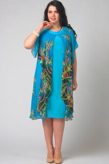 """Платье """"СКС"""" 3795/3 (Голубой/цветной)"""