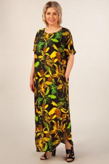 "Платье ""Мальта"" Милада (Черный/желтый)"