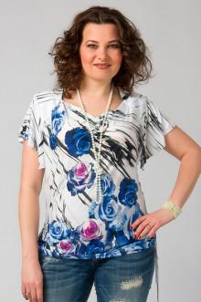 """Блуза """"СКС"""" 2780/2 (Белый/синий)"""