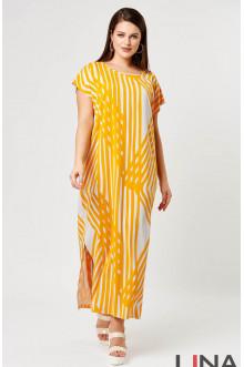 """Платье """"Лина"""" 52146 (Желтый принт)"""